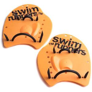 Swimrunners Go The Distance Hand Paddles orange/black orange/black