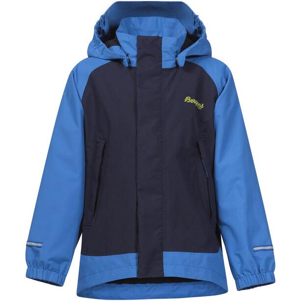 Bergans Knatten Jacket Barn athens blue/navy/spring leaves