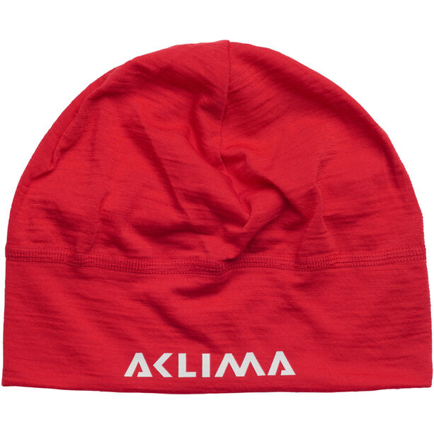 Aclima LightWool Beanie high risk red