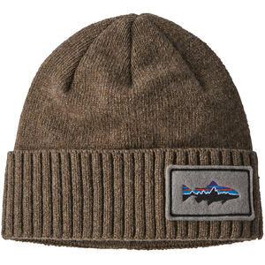 Patagonia Brodeo Beanie fitz roy trout patch/ash tan fitz roy trout patch/ash tan