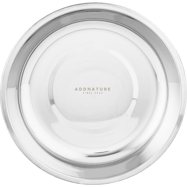 addnature Plate Deep Stainless Steel 22cm silver