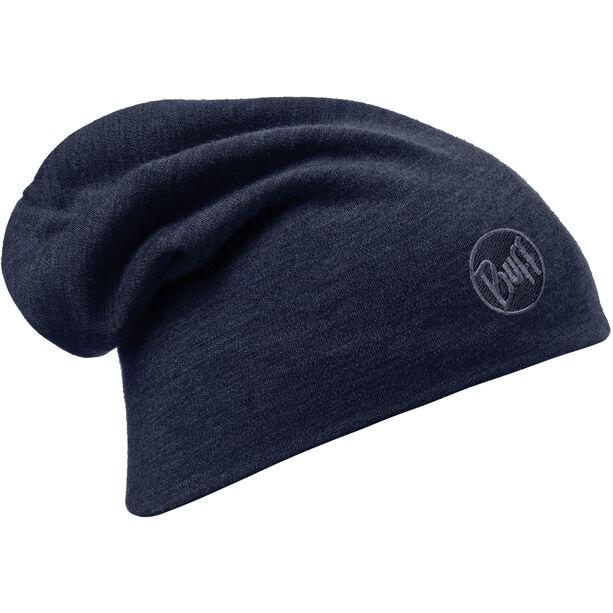 Buff Heavyweight Merino Wool Hat solid denim