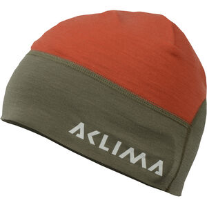 Aclima LightWool Hunting Beanie High Risk Red/Ranger Green High Risk Red/Ranger Green