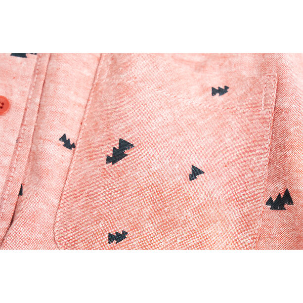 United By Blue Norde Stretch SS Button Down Herr canyon orange-mtn peaks