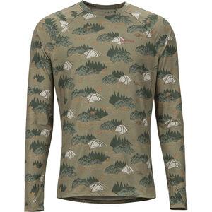Marmot Kestrel Lightweight LS Crew Shirt Herr camping camo camping camo