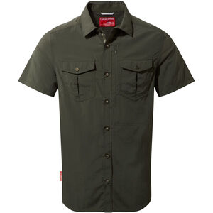 Craghoppers NosiLife Adventure II Short Sleeved Shirt Herr dark khaki dark khaki