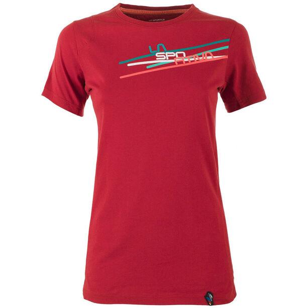 La Sportiva Stripe 2-0 T-shirt Dam berry