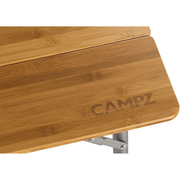 CAMPZ Bamboo Folding Table 100x65x65cm