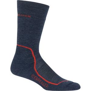 Icebreaker Hike+ Medium Crew Socks Herr fathom heather/midnight navy/chili red fathom heather/midnight navy/chili red