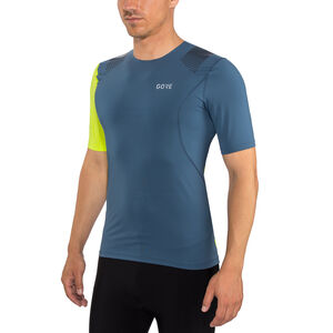 GORE WEAR R7 Shirt Herr deep water blue/citrus green deep water blue/citrus green
