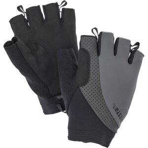 Hestra Apex Reflective Short Finger Gloves dark grey dark grey