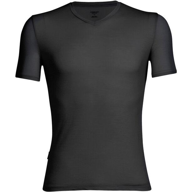 Icebreaker Anatomica SS V Shirt Herr black/monsoon