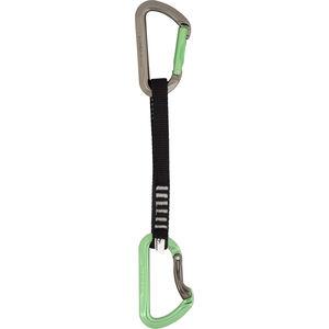 DMM Aero QD Carabiner 18 cm titanium/apple green titanium/apple green