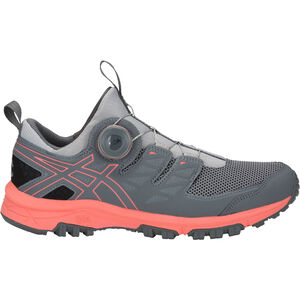 asics Gel-FujiRado Shoes Dam mid grey/papaya mid grey/papaya