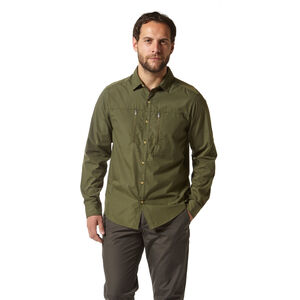 Craghoppers NosiLife Boulder Long Sleeved Shirt Herr dark khaki dark khaki