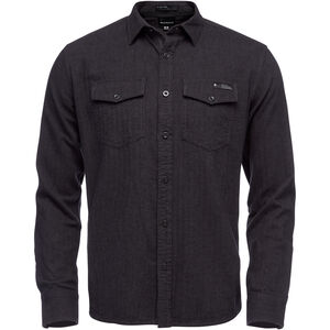 Black Diamond Sentinel LS Flannel Shirt Herr Carbon Heather Carbon Heather