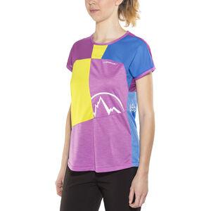 La Sportiva Push T-shirt Dam purple/apple green purple/apple green