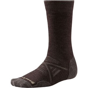 Smartwool PhD Outdoor Medium Crew Socks Herr chestnut chestnut
