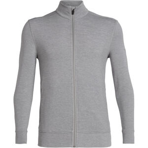 Icebreaker Momentum LS Zip Jacket Herr fossil/snow heather fossil/snow heather