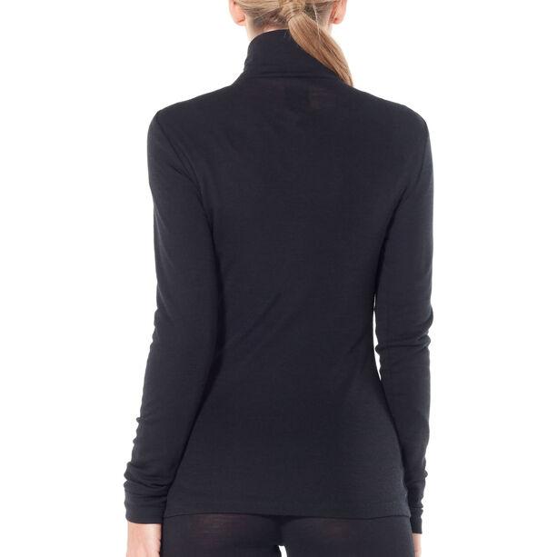 Icebreaker 175 Everyday LS Half Zip Shirt Dam black