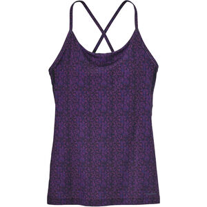 Patagonia Cross Beta Tank Dam batik hex micro: ikat purple batik hex micro: ikat purple