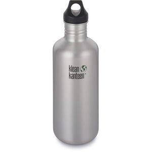 Klean Kanteen Classic Bottle Loop Cap 1182ml brushed stainless brushed stainless