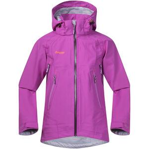 Bergans Ervik Jacket Flickor pink rose/plum/peony pink rose/plum/peony