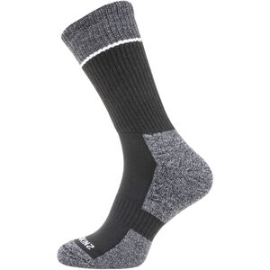 Sealskinz Solo Quickdry Mid Length Socks black/grey/white black/grey/white