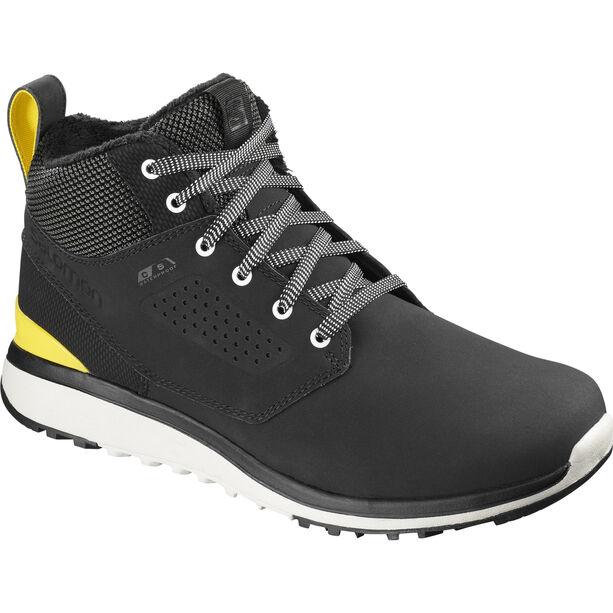 Salomon Utility Freeze CS WP Shoes Herr black/black/empire yellow