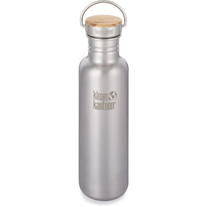 Klean Kanteen Reflect Bottle Bamboo Cap 800ml brushed stainless brushed stainless