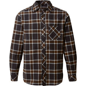 Craghoppers Cogwheel Long Sleeved Shirt Herr Ibex brown check Ibex brown check