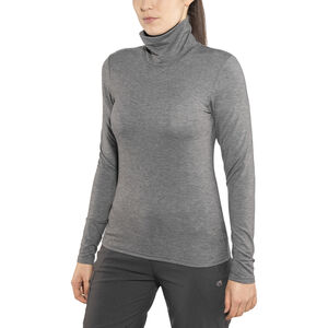 Craft Essential Warm Turtleneck Shirt Dam dk grey melange dk grey melange