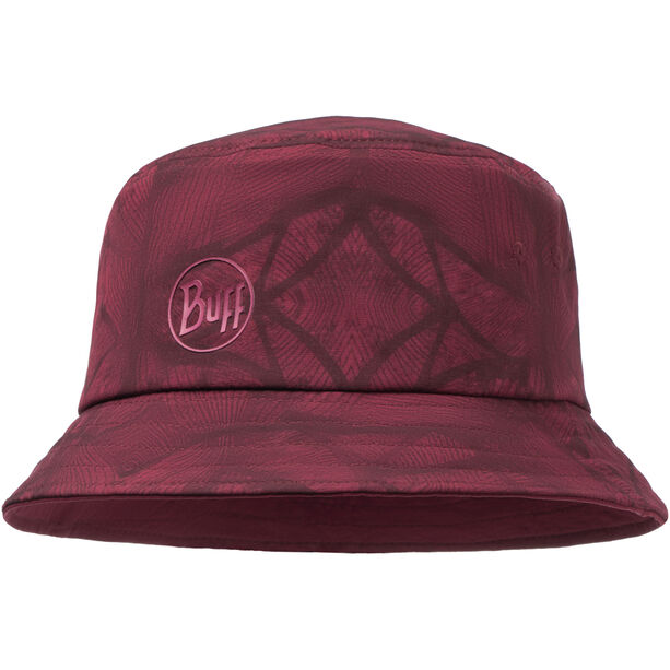 Buff Trek Bucket Hat calyx dark red