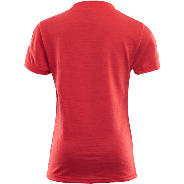 Aclima LightWool T-Shirt Barn high risk red