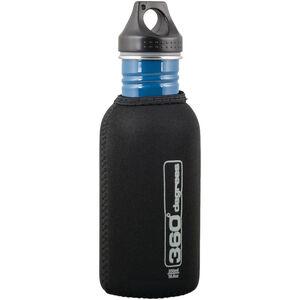 360° degrees Neoprene Pouch for Stainless Drink Bottle 550ml black black