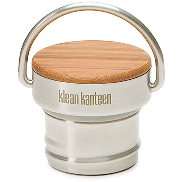 Klean Kanteen Stainless Unibody Bamboo Cap Classic brushed stainless
