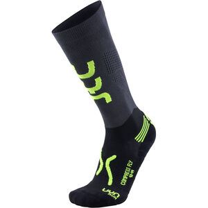 UYN Run Compression Fly Socks Herr anthracite/yellow fluo anthracite/yellow fluo