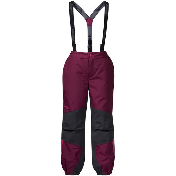 Bergans Lilletind Insulated Pants Barn Beet Red/Solid Charcoal