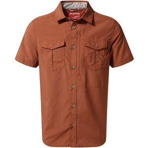 Craghoppers NosiLife Adventure II Short Sleeved Shirt Herr burnt whisky burnt whisky