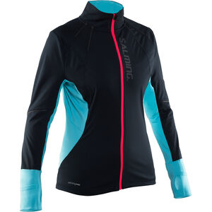 Salming Thermal Wind Jacket Dam black/turquoise black/turquoise
