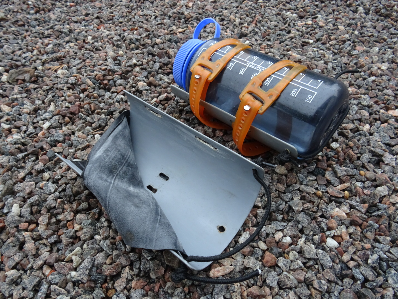 DIY flaskhållare bikepacking