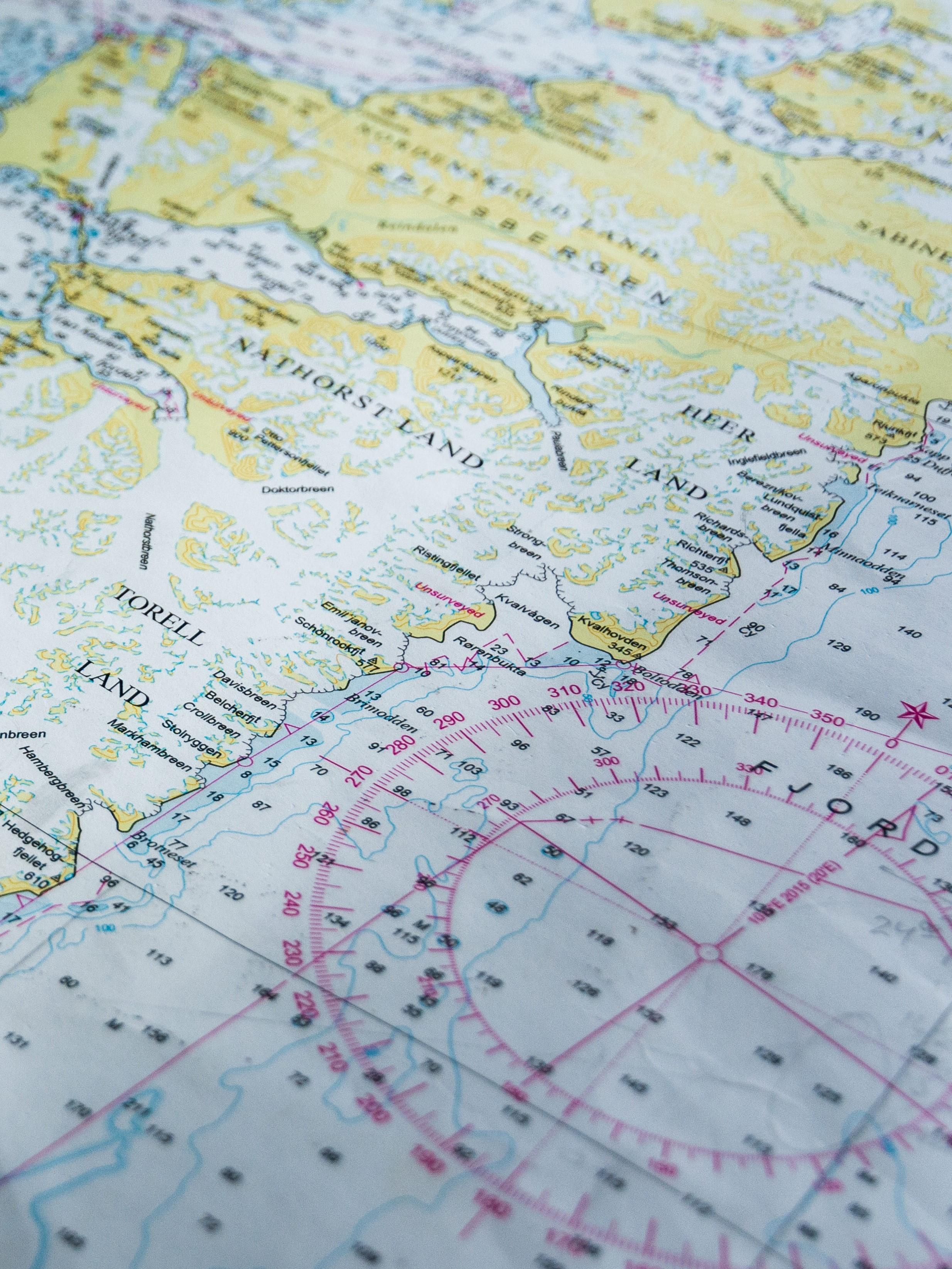 Karta över Svalbard