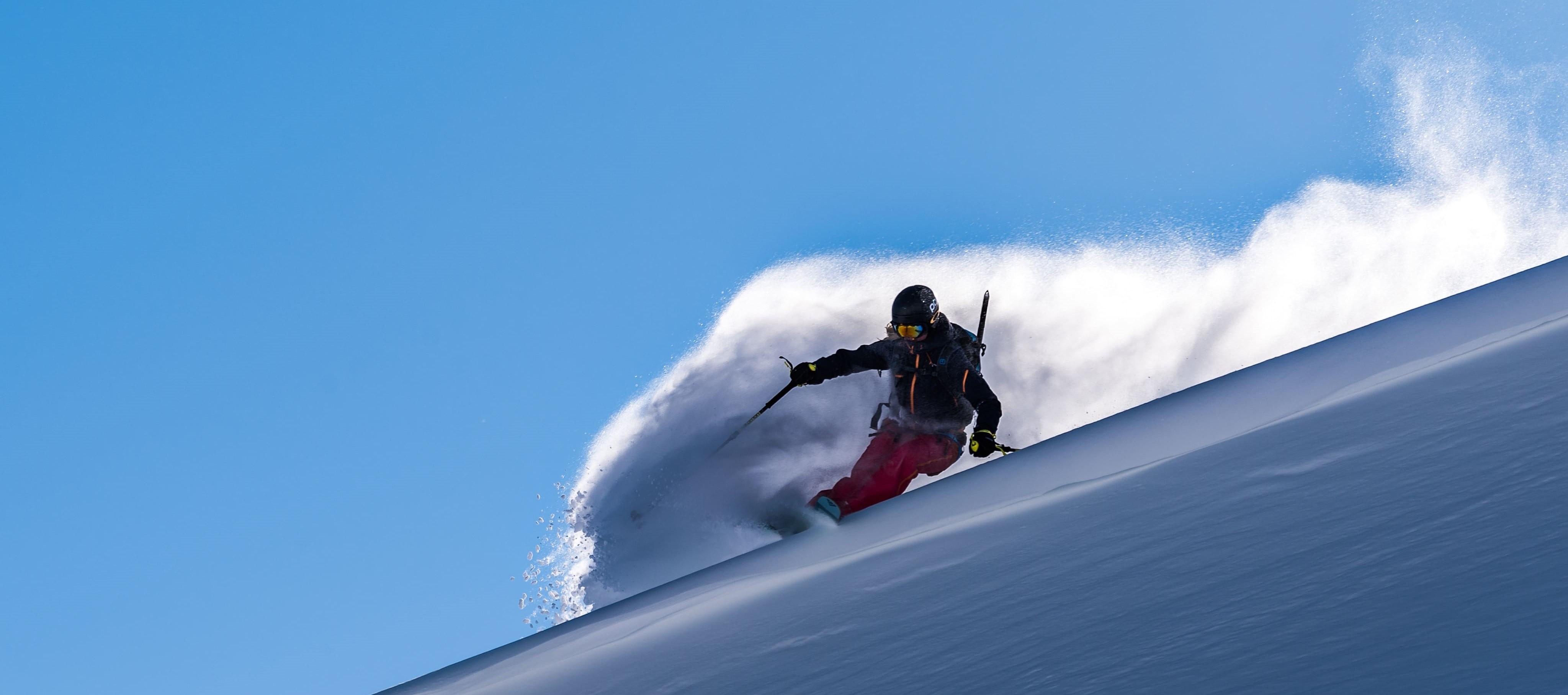 Evelina på skidor