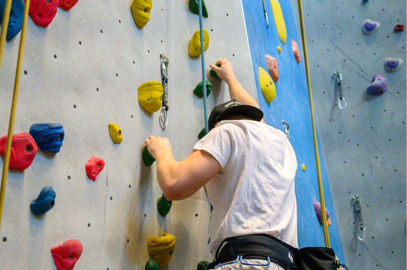Robert klättrar