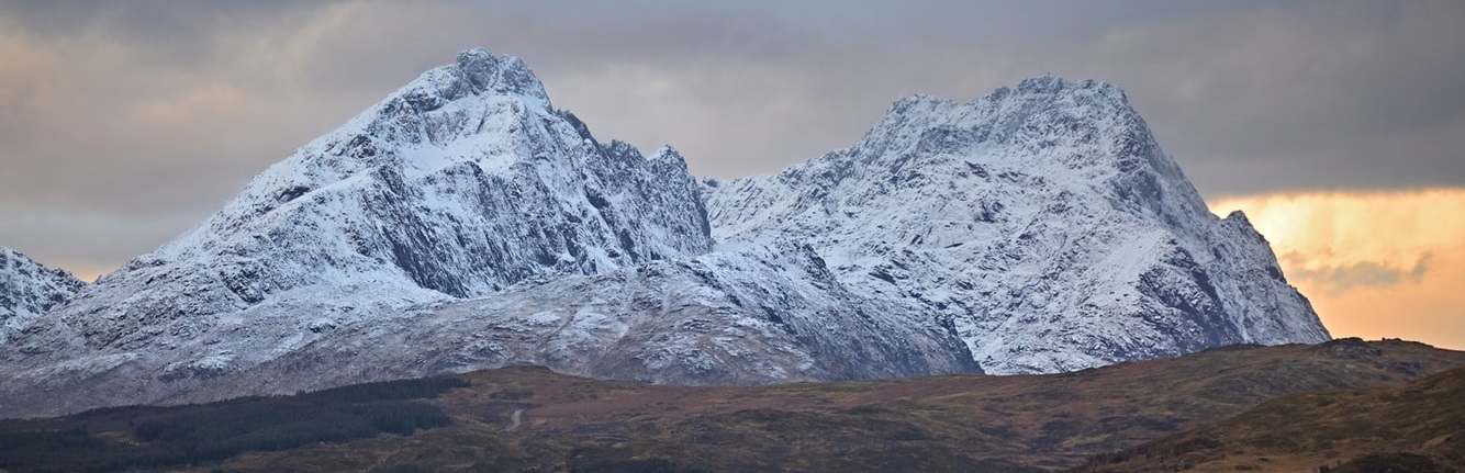 Snötäckt berg